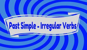 Απλός Αόριστος - Ανώμαλα Ρήματα