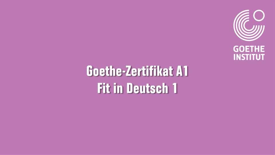 A1 Zertifikat - Fit In Deutsch